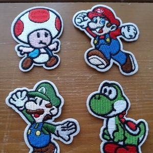 Mario Bros 4 Patch lot new  Yoshi 2.5in x 2in Mari